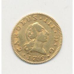 Espagne - Charles III - 1/2 Escudo - 1759 Madrid