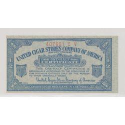 Etats-Unis - 1/2 certificate - united cigar stores company of america