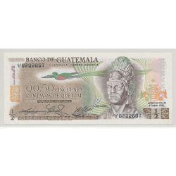 Guatemala - 1/2 Quetzal - 1982