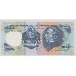 Uruguay - 50 nouveau pesos - 1981
