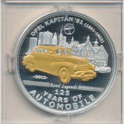 Palau - 5 Dollars 2012 - 125 ans automobile - Opel Kapitän