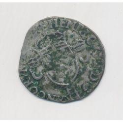 Henri II - Douzain aux croissants - 1557 H La Rochelle