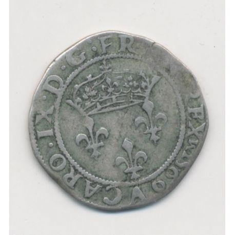 Charles IX - Double sol parisis - 1569 A Paris