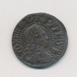Louis XIV - Sizain petit tête - 1645 Barcelone - Franco-Catalan