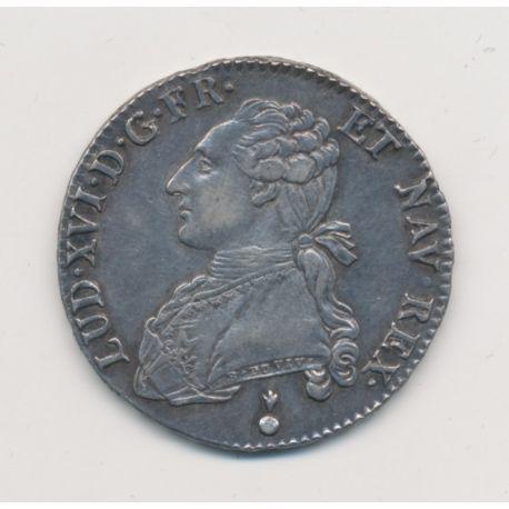 Louis XVI - 1/2 écu aux lauriers - 1790 AA Metz