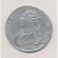 Louis XVI - Écu aux lauriers - 1790 B Rouen