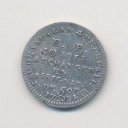 Monnaie de confiance - 10 Sols 1792 - AN 4 - de Lefèvre et Lesage