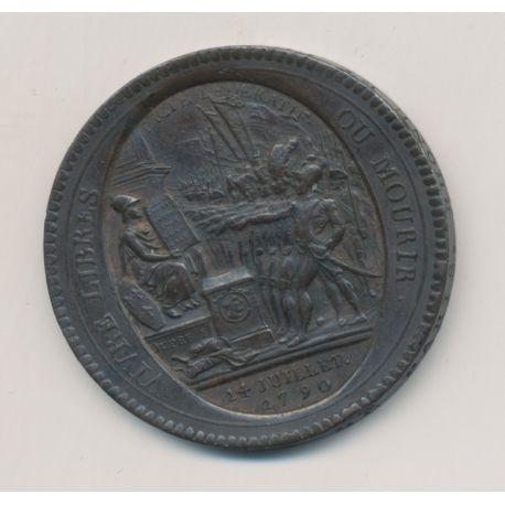 Monneron 5 Sols au pacte fédératif - 1792 - AN 4