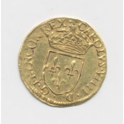 Charles IX - Écu d'or au soleil - 1569 B Rouen