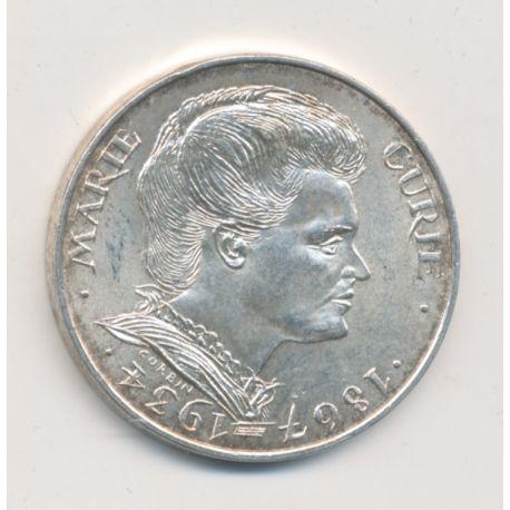 100 Francs Marie Curie - 1984 - argent