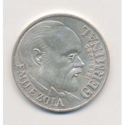 100 Francs Emile Zola - 1985 - argent