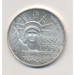 100 Francs Statue de la liberté - 1986 - argent - TTB+