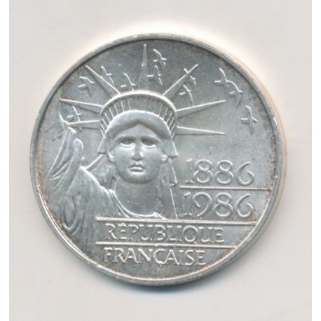 100 Francs Statue de la liberté - 1986 - argent