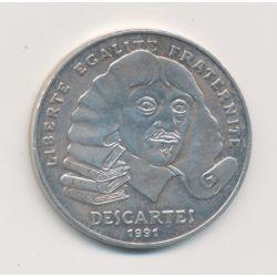 100 Francs Descartes - 1991 - argent