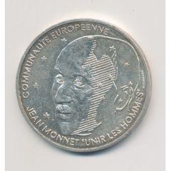 100 Francs Jean Monnet - 1992 - argent
