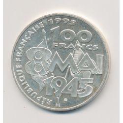 100 Francs 8 Mai 1945 - 1995 - argent