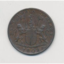 Ile maurice - X Cash 1808 - 10 Cash 1808 - East india company - Madras