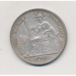 Indochine - 50 centimes - 1936 - argent