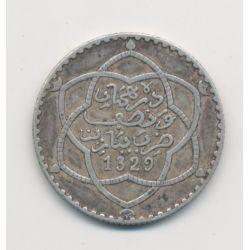 Maroc - 2 1/2 Dirhams - 1911 - Paris - Moulay Hafid I - argent