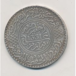 Maroc - 10 Dirhams - 1913 - Moulay Youssef I - argent