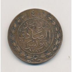 Tunisie - 4 Kharoub - 1864