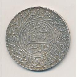 Maroc - 10 Dirhams - 1881 - Hassan I - argent