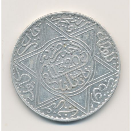 Maroc - 10 Dirhams - 1902 - Londres - Abdul aziz I