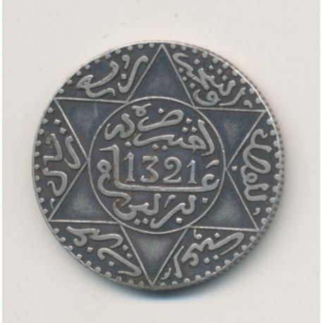 Maroc - 2 1/2 Dirhams - 1904 - Berlin - Abdul aziz I - argent