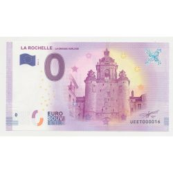 Billet Touristique O Euro - Grosse Horloge - 2018 - Numéro 000016