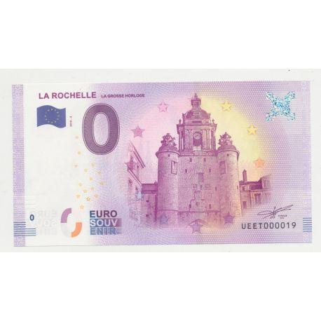 Billet Touristique O Euro - Grosse Horloge - 2018 - Numéro 000019