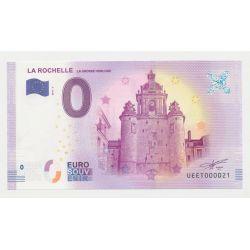 Billet Touristique O Euro - Grosse Horloge - 2018 - Numéro 000021