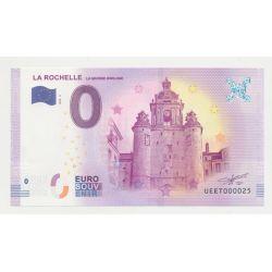 Billet Zéro € - Grosse Horloge - N° 25 - 2018