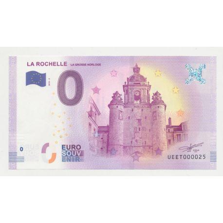 Billet Touristique O Euro - Grosse Horloge - 2018 - Numéro 000025