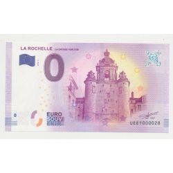 Billet Touristique O Euro - Grosse Horloge - 2018 - Numéro 000028