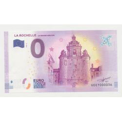 Billet Touristique O Euro - Grosse Horloge - 2018 - Numéro 000036