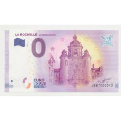 Billet Touristique O Euro - Grosse Horloge - 2018 - Numéro 000043