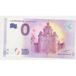 Billet Touristique O Euro - Grosse Horloge - 2018 - Numéro 000046