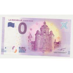 Billet Touristique O Euro - Grosse Horloge - 2018 - Numéro 000047