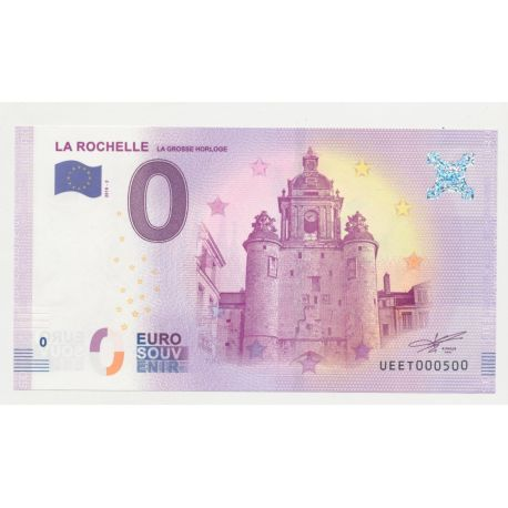 Billet Zéro € - Grosse Horloge - N°500 - 2018