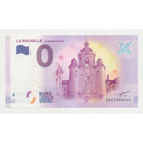 Billet Zéro € - Grosse Horloge - N°444 - 2018