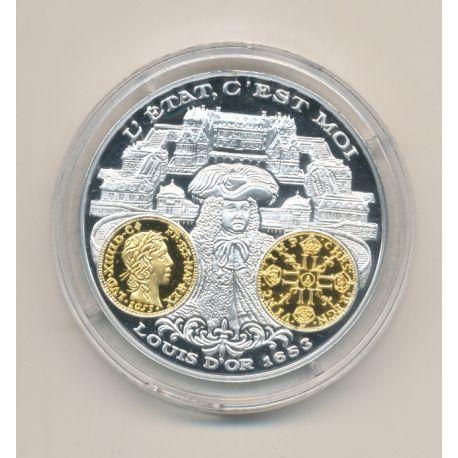Médaille  - Louis XIV - Louis d'or 1653 - 2000 ans d'histoire monétaire Français
