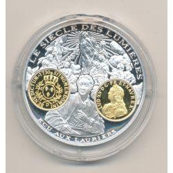 Médaille  - Louis XV - écu aux lauriers - 2000 ans d'histoire monétaire Français