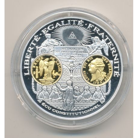 Médaille  - Louis XVI - écu constitutionnel - 2000 ans d'histoire monétaire Français