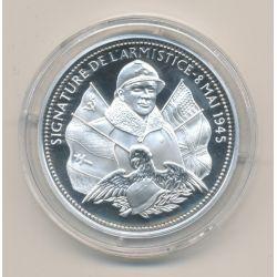 Médaille - Signature de l'armistice - 8 mai 1945 - La France Victorieuse - argent