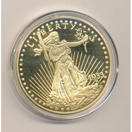 Médaille - reproduction 20 Dollars - 1933/2003