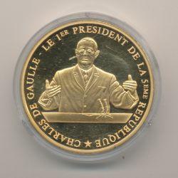 Médaille - Charles De Gaulle - 1er président de la 5e république