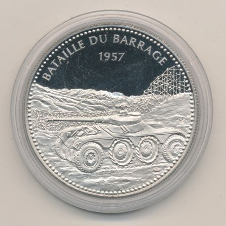 Médaille - Bataille du barrage 1957 - Alger Oran Constantine - Sahara