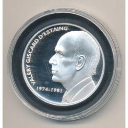 Médaille - Valery Giscard d'Estaing - Les Présidents de la république