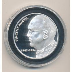 Médaille - Vincent Auriol - Les Présidents de la république