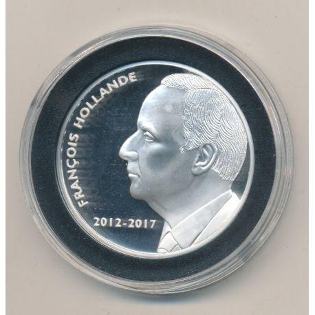 Médaille - François Hollande - Les Présidents de la république